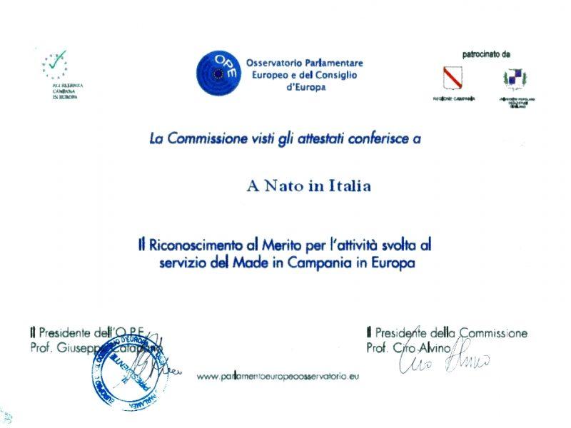 orgogliosi di avere uno sponsor come NATO IN ITALIA