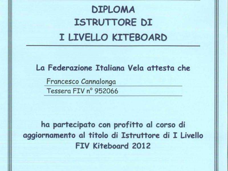 Istruttore Kiteboard FIV