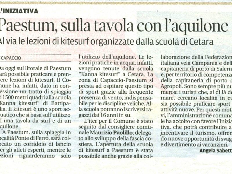 Articolo tratto dal quotidiano La Città del 1/08/2012